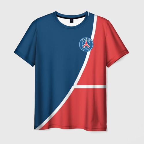 Мужская футболка 3D  Фото 01, PSG LOGO