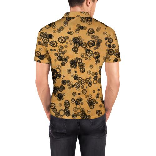 Мужская рубашка поло 3D  Фото 04, Шестеренки