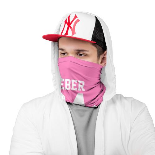 Бандана-труба 3D  Фото 03, Bieber Team Pink