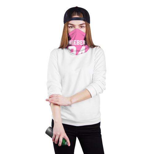 Бандана-труба 3D  Фото 02, Bieber Team Pink