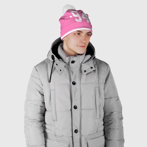 Шапка 3D c помпоном  Фото 02, Bieber Team Pink