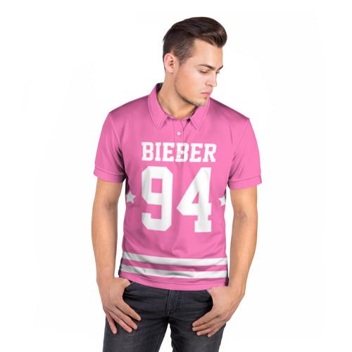 Мужская рубашка поло 3D  Фото 05, Bieber Team Pink