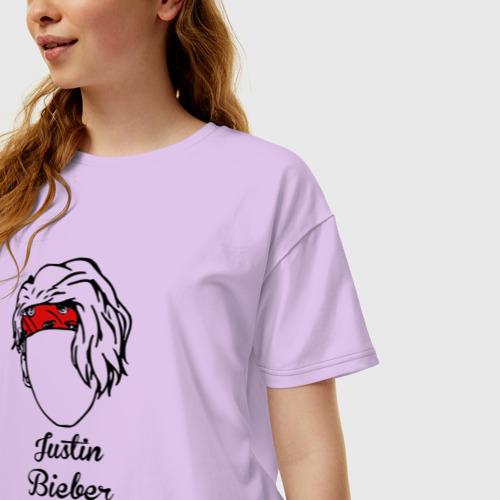 Женская футболка хлопок Oversize Justin Bieber Фото 01