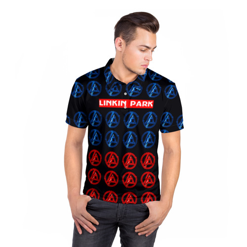 Мужская рубашка поло 3D  Фото 05, LINKIN PARK