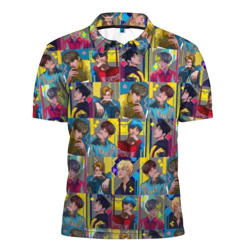 Мужская рубашка поло 3D  Фото 01, Bangtan Boys