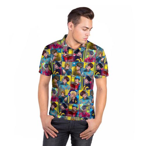 Мужская рубашка поло 3D  Фото 05, Bangtan Boys