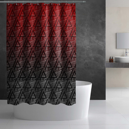 Штора 3D для ванной Linkin park Music  Фото 01