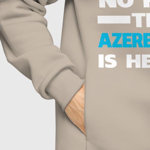 Мужское худи Oversize хлопок Не бойся, азербайджанец рядом Фото 01