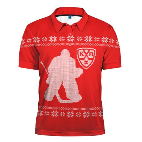 Мужская рубашка поло 3D  Фото 01, КХЛ