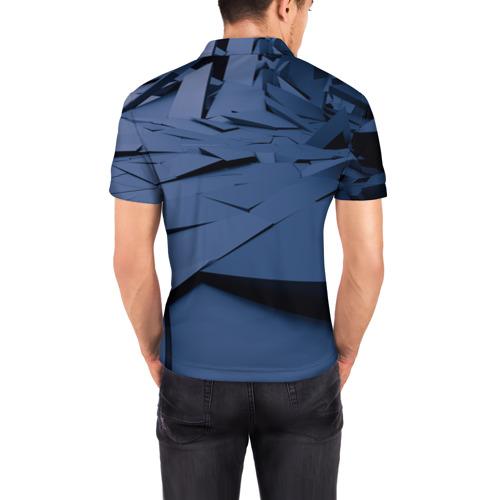Мужская рубашка поло 3D  Фото 04, Абстрактная текстура