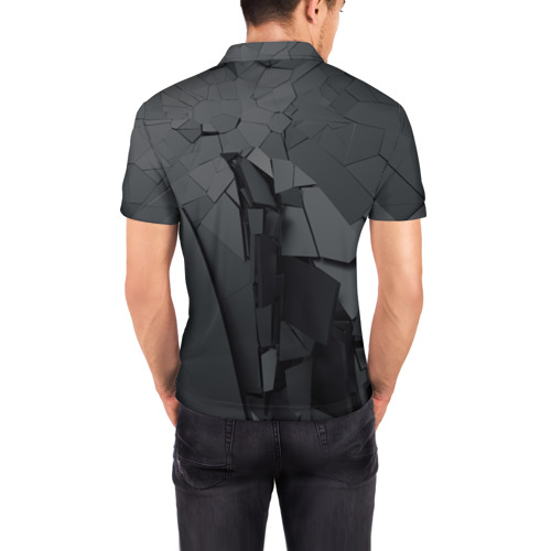 Мужская рубашка поло 3D  Фото 04, MIRROR ABSTRACTION COLLECTION