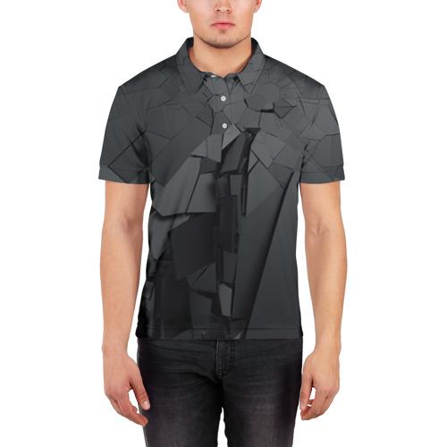 Мужская рубашка поло 3D  Фото 03, MIRROR ABSTRACTION COLLECTION