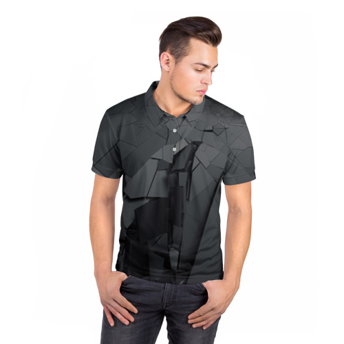 Мужская рубашка поло 3D  Фото 05, MIRROR ABSTRACTION COLLECTION