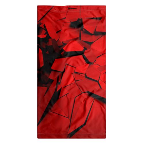 Бандана-труба 3D  Фото 07, Carbon abstraction RED