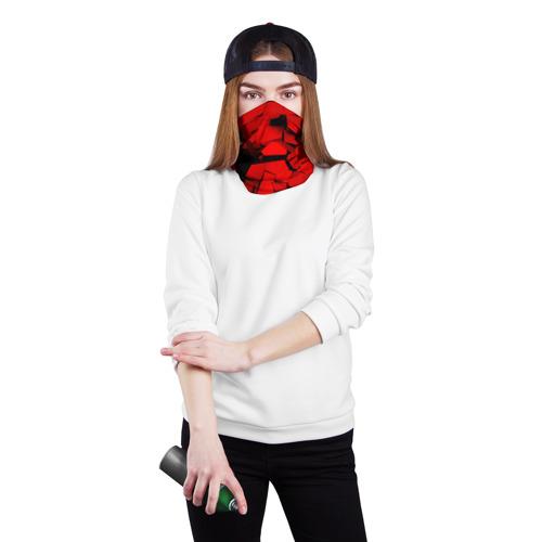 Бандана-труба 3D  Фото 02, Carbon abstraction RED