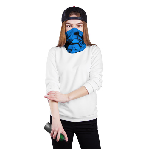 Бандана-труба 3D  Фото 02, Carbon abstraction BLUE