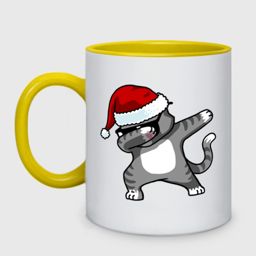 Кружка двухцветная DAB Cat Santa Фото 01