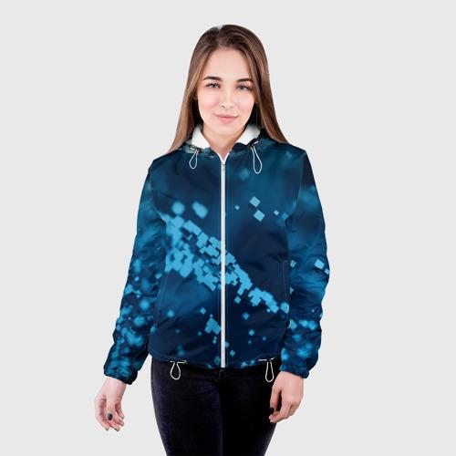 Женская куртка 3D  Фото 03, Нано кубический