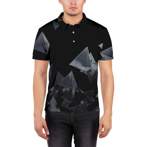 Мужская рубашка поло 3D  Фото 03, GEOMETRY 0NE
