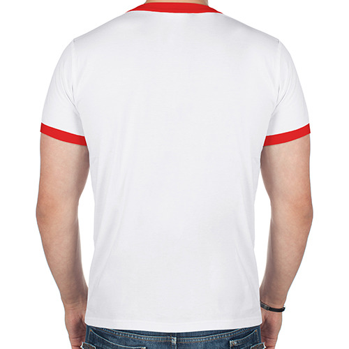Мужская футболка рингер  Фото 02, Санта на луне