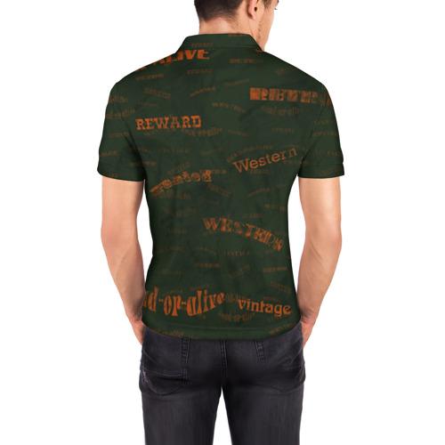 Мужская рубашка поло 3D  Фото 04, Вестерн