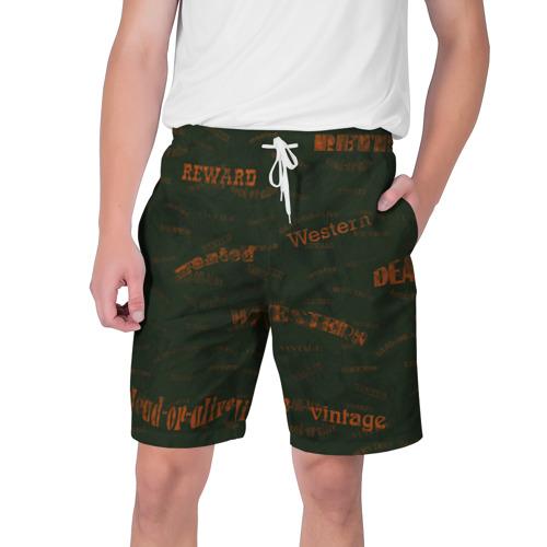 Мужские шорты 3D Вестерн