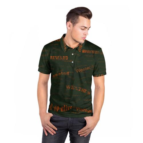Мужская рубашка поло 3D  Фото 05, Вестерн