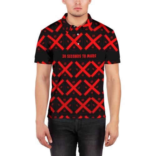 Мужская рубашка поло 3D  Фото 03, 30 Seconds to Mars music 2018