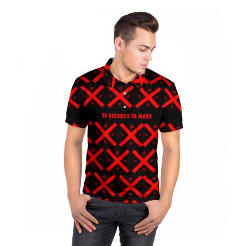 Мужская рубашка поло 3D  Фото 05, 30 Seconds to Mars music 2018