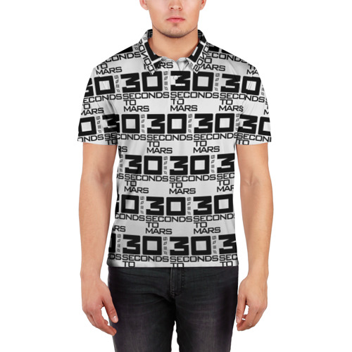 Мужская рубашка поло 3D  Фото 03, 30 SECONDS TO MARS ROCK BAND
