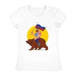 Русский на медведе!