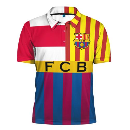 Мужская рубашка поло 3D  Фото 01, FC Barcelona
