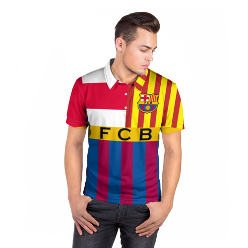 Мужская рубашка поло 3D  Фото 05, FC Barcelona