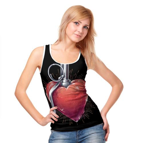 Женская майка 3D  Фото 05, Сердце МИЛИТАРИ