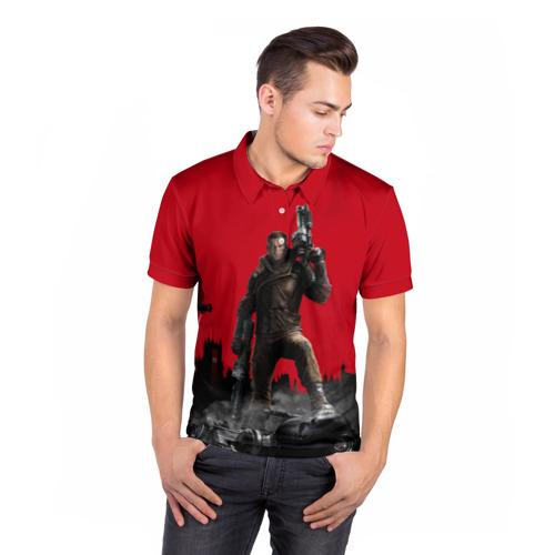 Мужская рубашка поло 3D  Фото 05, Wolfenstein