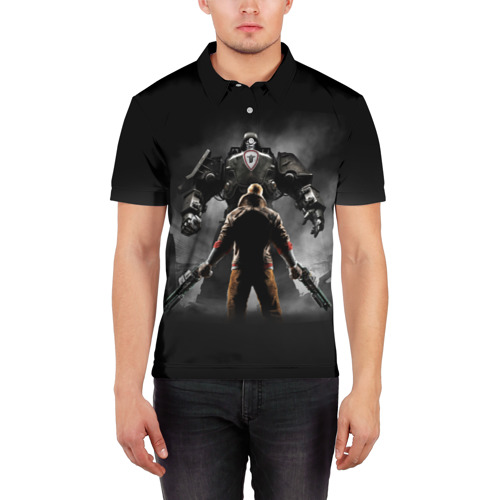 Мужская рубашка поло 3D  Фото 03, Wolfenstein