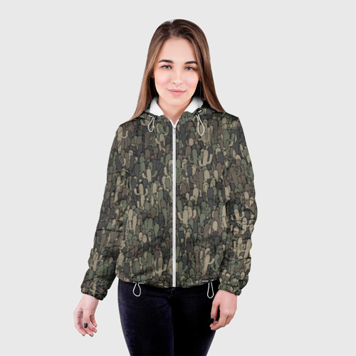 Женская куртка 3D  Фото 03, Камуфляж с кактусами