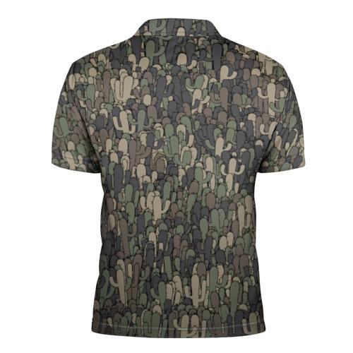 Мужская рубашка поло 3D  Фото 02, Камуфляж с кактусами