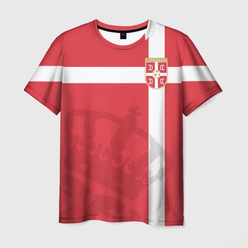 Мужская футболка 3D Сербия, форма