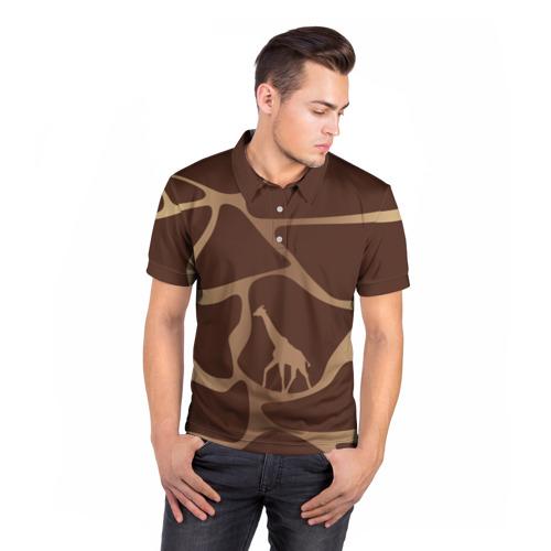 Мужская рубашка поло 3D  Фото 05, Жираф