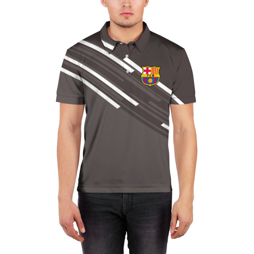 Мужская рубашка поло 3D  Фото 03, ФК Барселона
