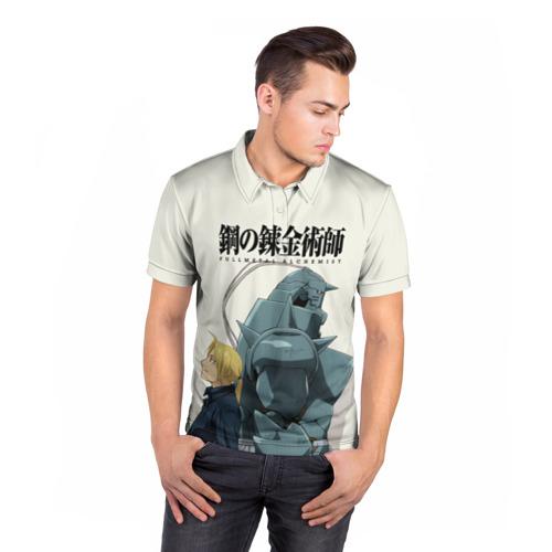 Мужская рубашка поло 3D  Фото 05, Стальной алхимик_
