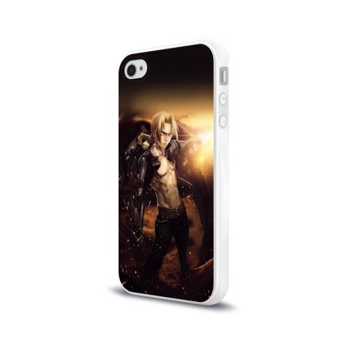 Чехол для Apple iPhone 4/4S силиконовый глянцевый  Фото 03, Эдвард_5