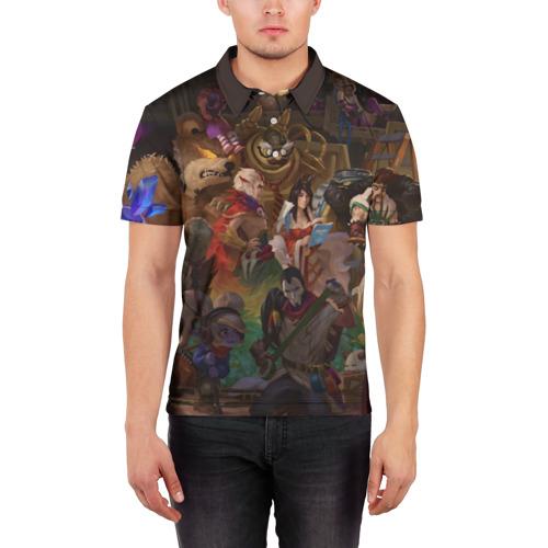 Мужская рубашка поло 3D  Фото 03, League of Legend Christmas