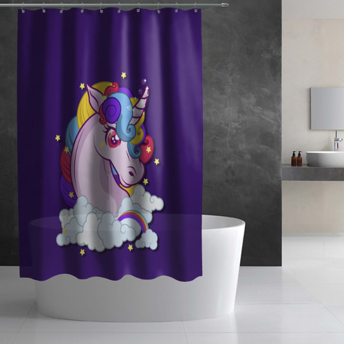 Штора 3D для ванной Покорители воздуха Фото 01