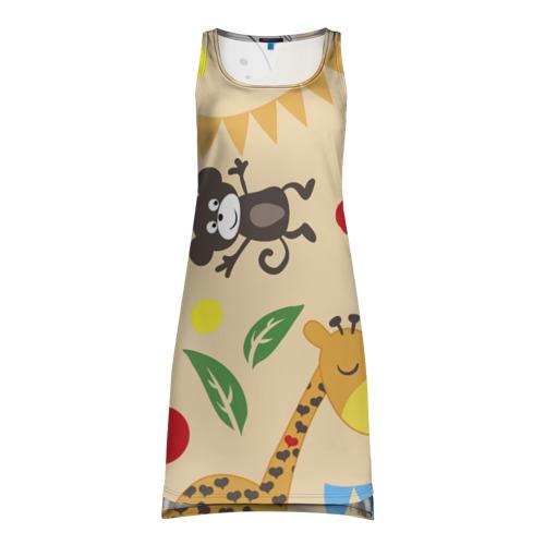 Платье-майка 3D  Фото 01, Веселый зоопарк