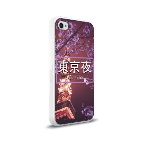 Чехол для Apple iPhone 4/4S силиконовый глянцевый  Фото 02, Tokyo Nights