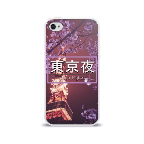 Чехол для Apple iPhone 4/4S силиконовый глянцевый  Фото 01, Tokyo Nights