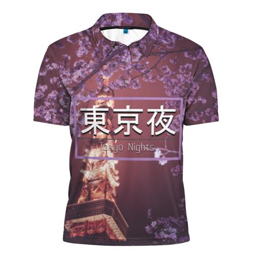 Мужская рубашка поло 3D  Фото 01, Tokyo Nights