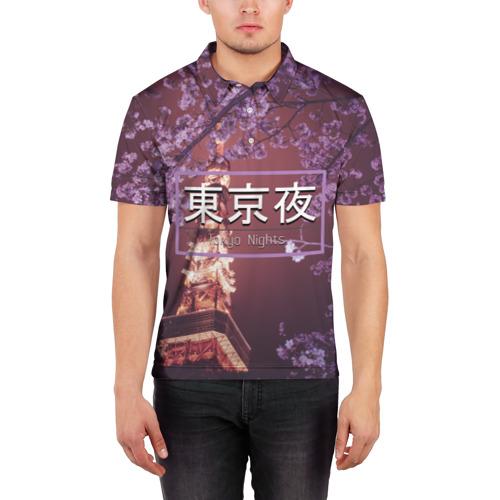 Мужская рубашка поло 3D  Фото 03, Tokyo Nights
